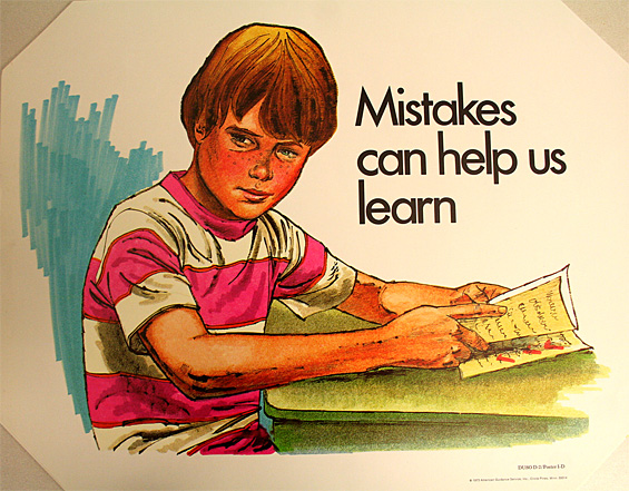 Mistakes can help us learn